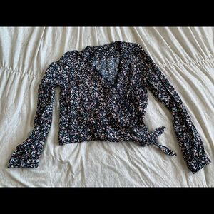 Abercrombie & Fitch Wrap Floral Top